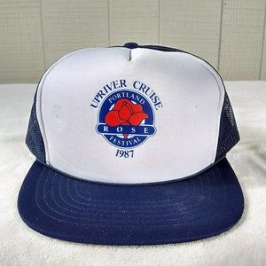 Vintage 1987 Portland Rose Festival Trucker Hat